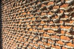 Under construction brick wall Stock Image