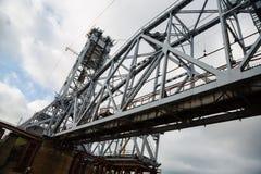 Under construction bridge Royalty Free Stock Images