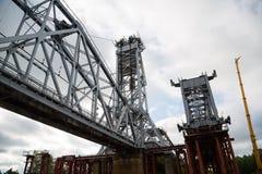 Under construction bridge Stock Image