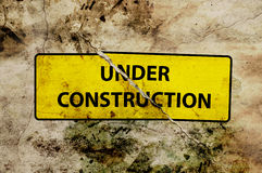Under construction broken sign Royalty Free Stock Image