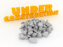 Under Construction broken stone Royalty Free Stock Image