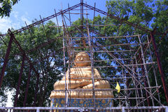 The under construction buddha image. In Chinense temple Royalty Free Stock Photos
