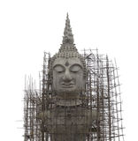 Under construction buddha isolate on white background Royalty Free Stock Images
