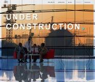 Under Construction Building Architecture Concept Stock Image