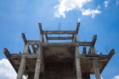 Under construction. An under construction building on blue sky background Stock Images