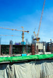 The under construction building at site Stock Photos