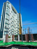 The under construction building at site Stock Images