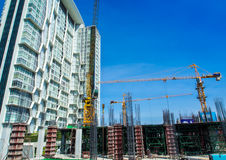 The under construction building at site Royalty Free Stock Images
