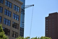 Under Construction. Building under construction, located in downtown, Fort Worth, Texas Royalty Free Stock Photography