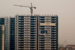 Under construction buildings in Noida Gurgaon Stock Photos