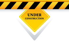 Under construction button. Under construction sign on white background Stock Image