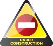 Under construction button Royalty Free Stock Photography