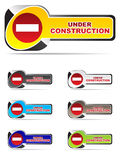 Under construction buttons Royalty Free Stock Photography