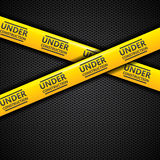 Under construction caution tape, vector Royalty Free Stock Photos