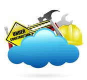 Under construction cloud computing concept Stock Images