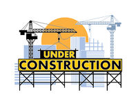 Under construction color Royalty Free Stock Photo