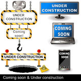 Under construction and coming soon Royalty Free Stock Photos