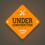 Under construction with coming soon label. Stock Image
