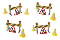 Road work sign. Royalty Free Stock Photo