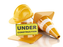 Under construction concept. 3d illustration Stock Photography