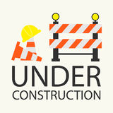 Under construction concept in flat design style Stock Images