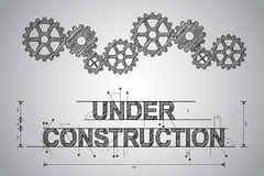 Under construction concept, sketched drawing Royalty Free Stock Photos