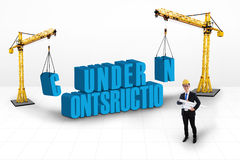 Under construction concept Stock Image