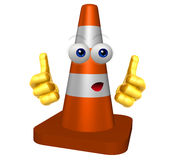 Under construction cone icon Royalty Free Stock Photos