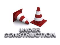 Under construction cones Stock Photography