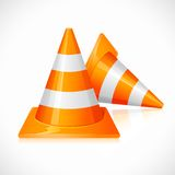 Under Construction Cones Royalty Free Stock Photos