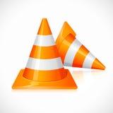 Under Construction Cones Royalty Free Stock Photos