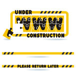 Under construction construction bars and graphics Stock Photo