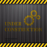 Under Construction on Container Background Stock Image