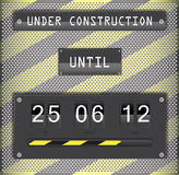 Under construction countdown timer with background Royalty Free Stock Image