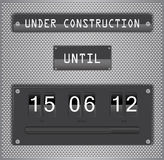 Under construction countdown timer vector format Royalty Free Stock Image