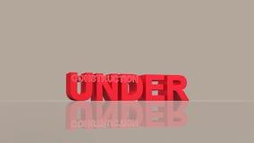 Under construction 3d render Stock Image