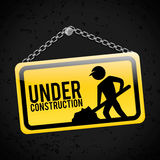 Under construction design Royalty Free Stock Images