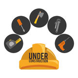 Under construction design Royalty Free Stock Photos