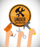 Under construction design Stock Photos