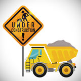 Under construction design Royalty Free Stock Photo