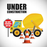 Under construction design Royalty Free Stock Image
