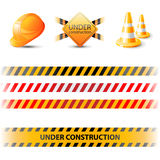 Under construction design elements Royalty Free Stock Images