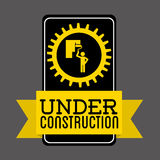 Under construction design. Illustration eps10 graphic Stock Image