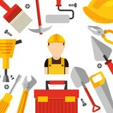 Under construction design. Illustration eps10 graphic Royalty Free Stock Photos