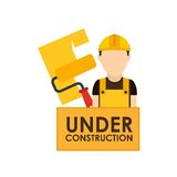 Under construction design. Illustration eps10 graphic Stock Photography