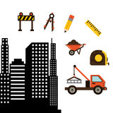 Under construction design. Illustration eps10 graphic Stock Images