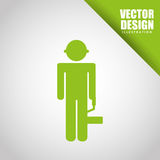 Under construction design. Illustration eps10 graphic Royalty Free Stock Photo