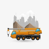 Under construction design. truck concept. repair icon. Under construction concept with icon design, vector illustration 10 eps graphic Stock Image