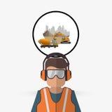 Under construction design. truck concept. repair icon. Under construction concept with icon design, vector illustration 10 eps graphic Stock Photos