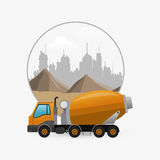 Under construction design. truck concept. repair icon. Under construction concept with icon design, vector illustration 10 eps graphic Stock Photography